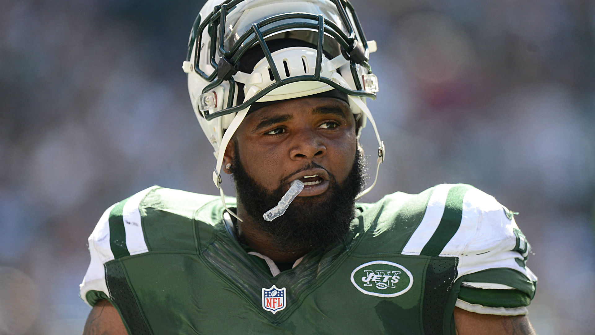 Sheldon Richardson before Jets Dolphins game F— this