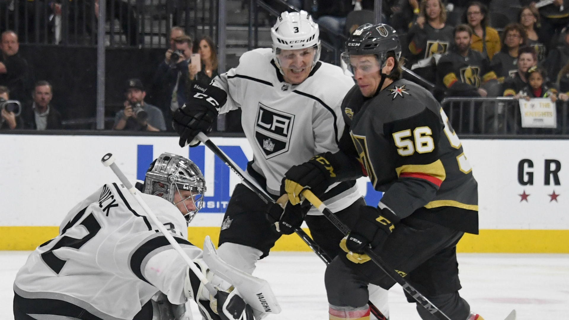 Kings try to avoid 0-2 hole vs. Knights without suspended Doughty