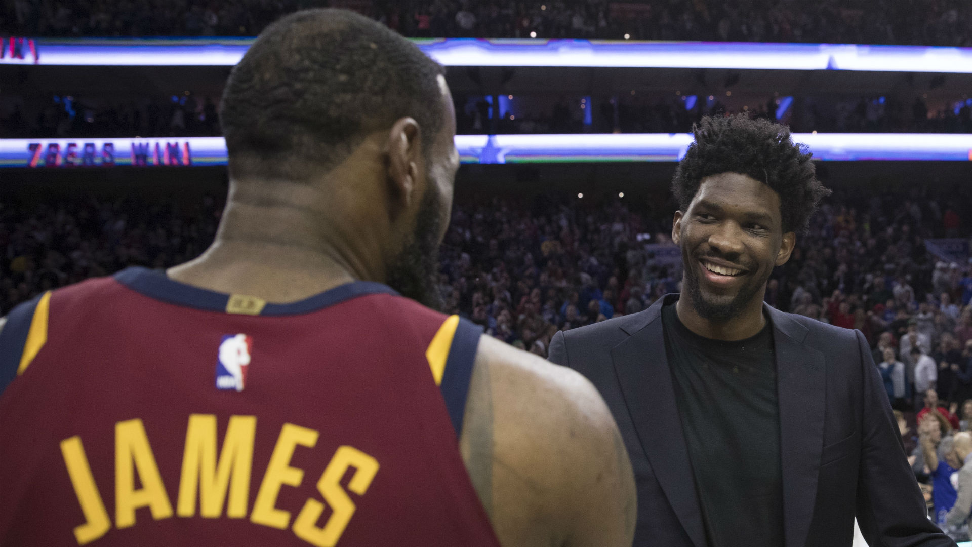 LeBron James and Joel Embiid