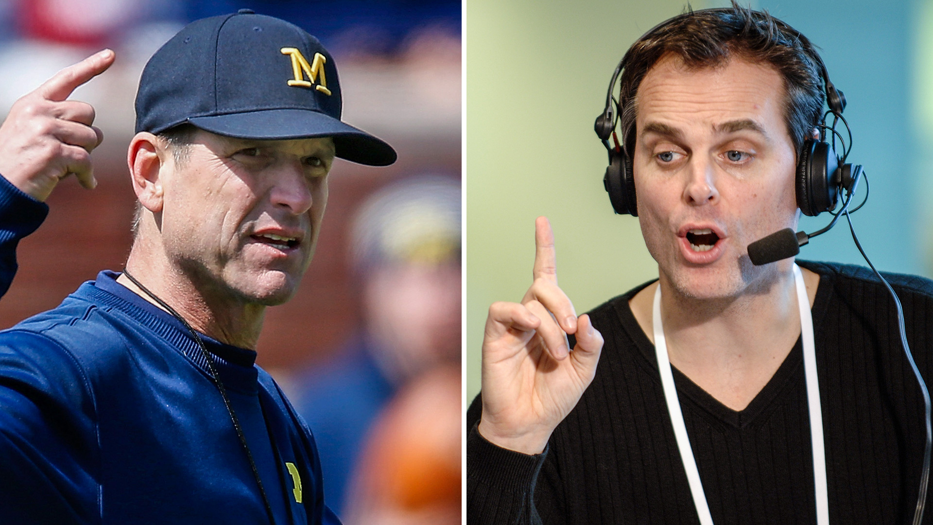 Colin Cowherd cuts off Jim Harbaugh after awkward interview