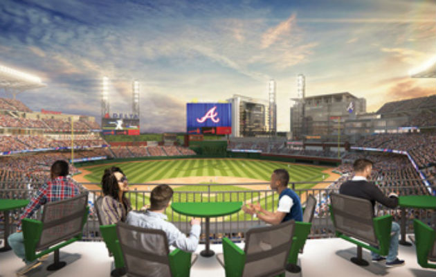 Rendering Of Terrace Tables At SunTrust Park Atlanta Braves