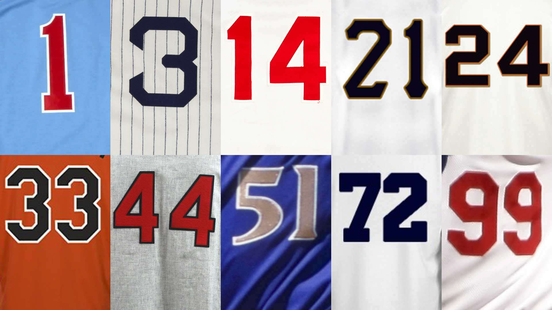 Best all-time MLB players at each jersey number, 1-99 ...