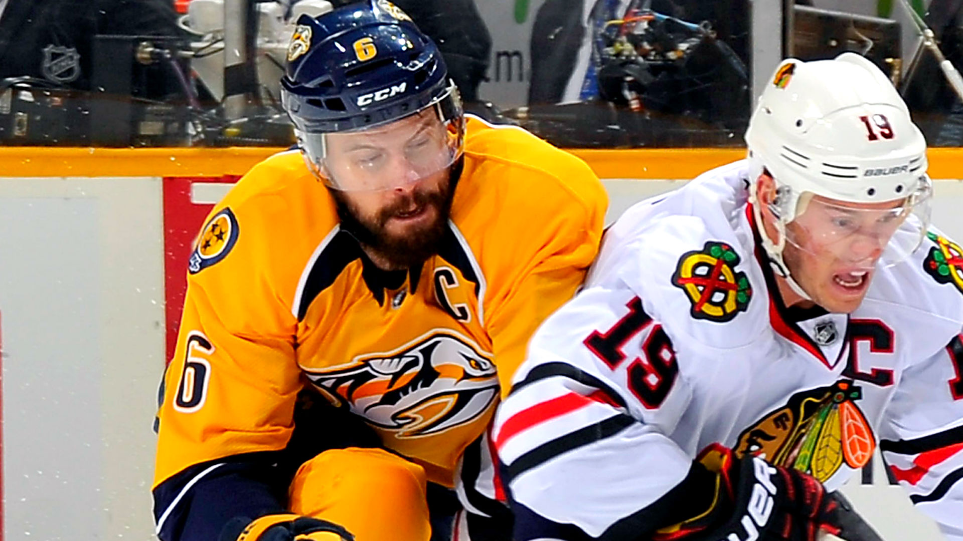 Predators' Shea Weber won't return to Stanley Cup playoffs vs. Blackhawks