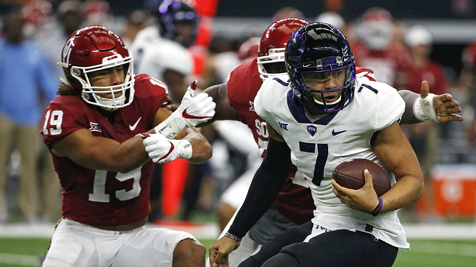 Oklahoma routs TCU to win Big 12 title