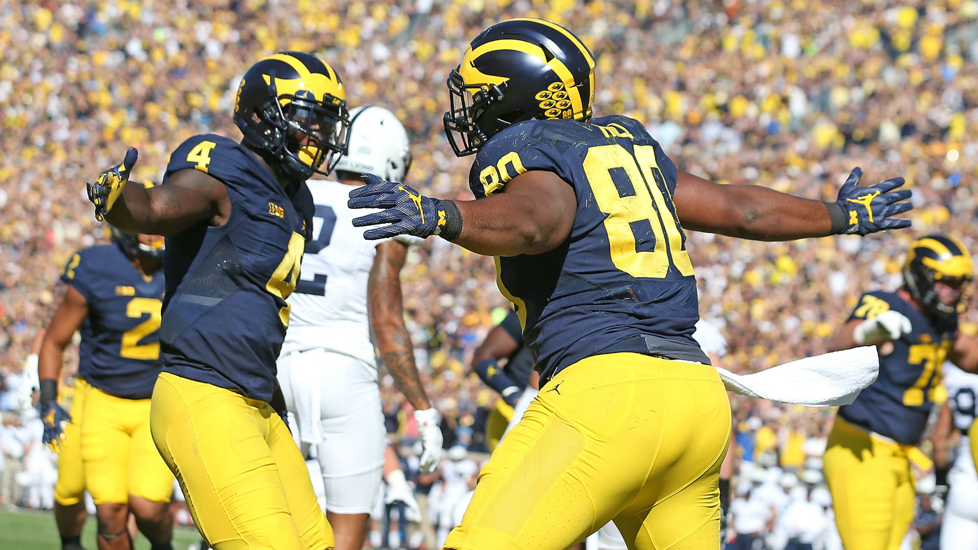 No. 4 Michigan runs over Penn St. 49-10
