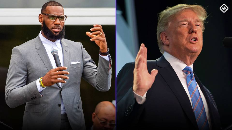 President Donald Trump tweets crack about LeBron James' intelligence after watching CNN interview