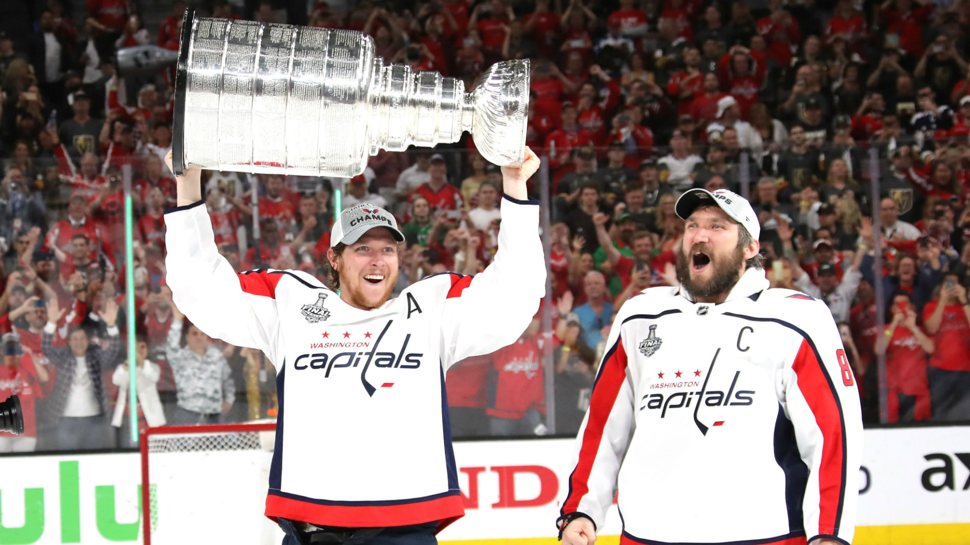 Stanley Cup Final 2018: Capitals' Alex Ovechkin hands Stanley Cup to Nicklas Backstrom