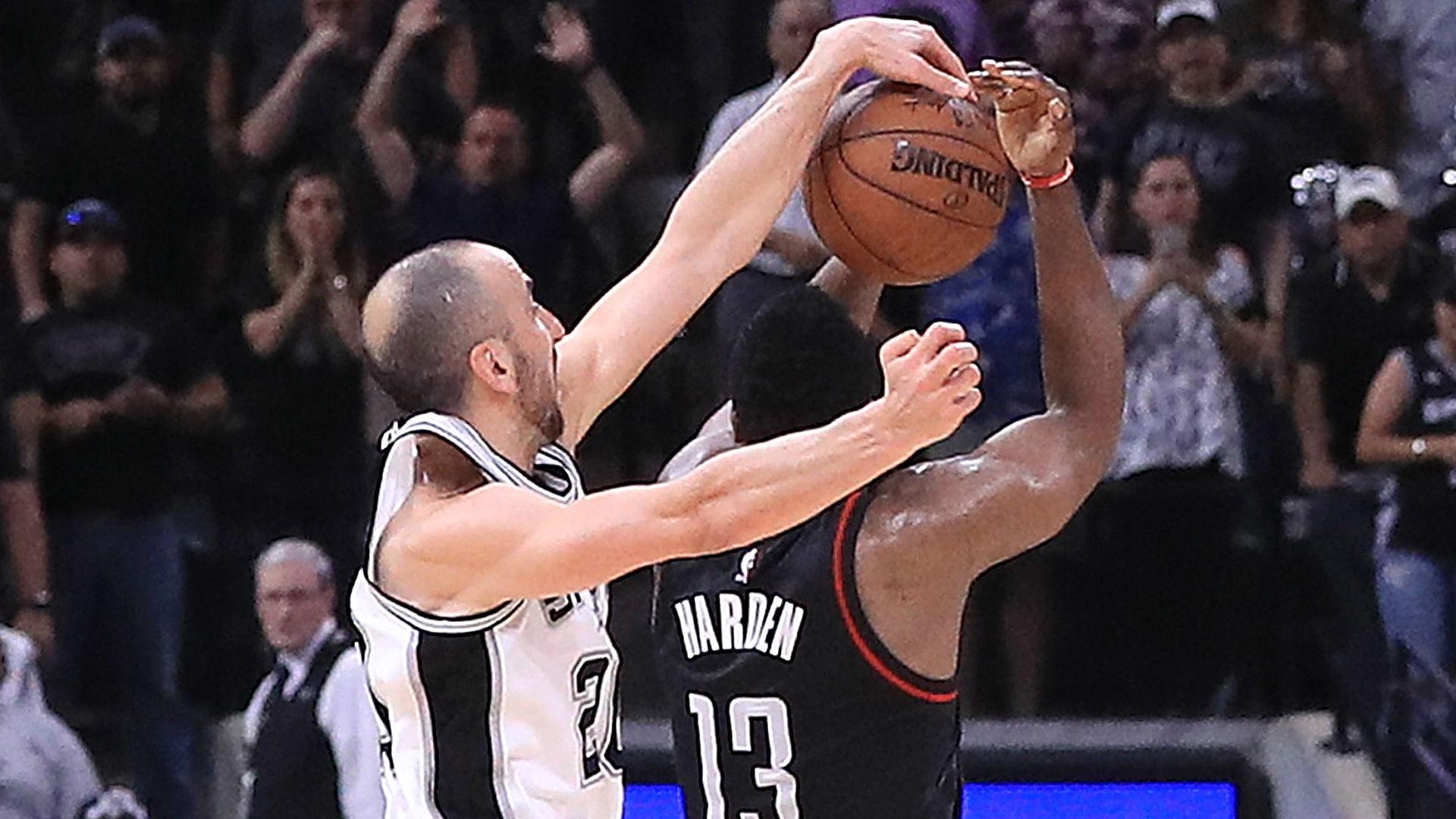 NBA playoffs 2017 Manu Ginobili saves Spurs on Throwback Tuesday