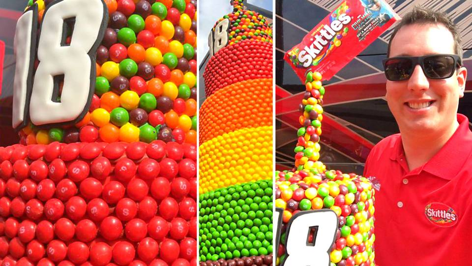 You Wont Believe The Size Of Kyle Buschs Skittles Birthday Cake