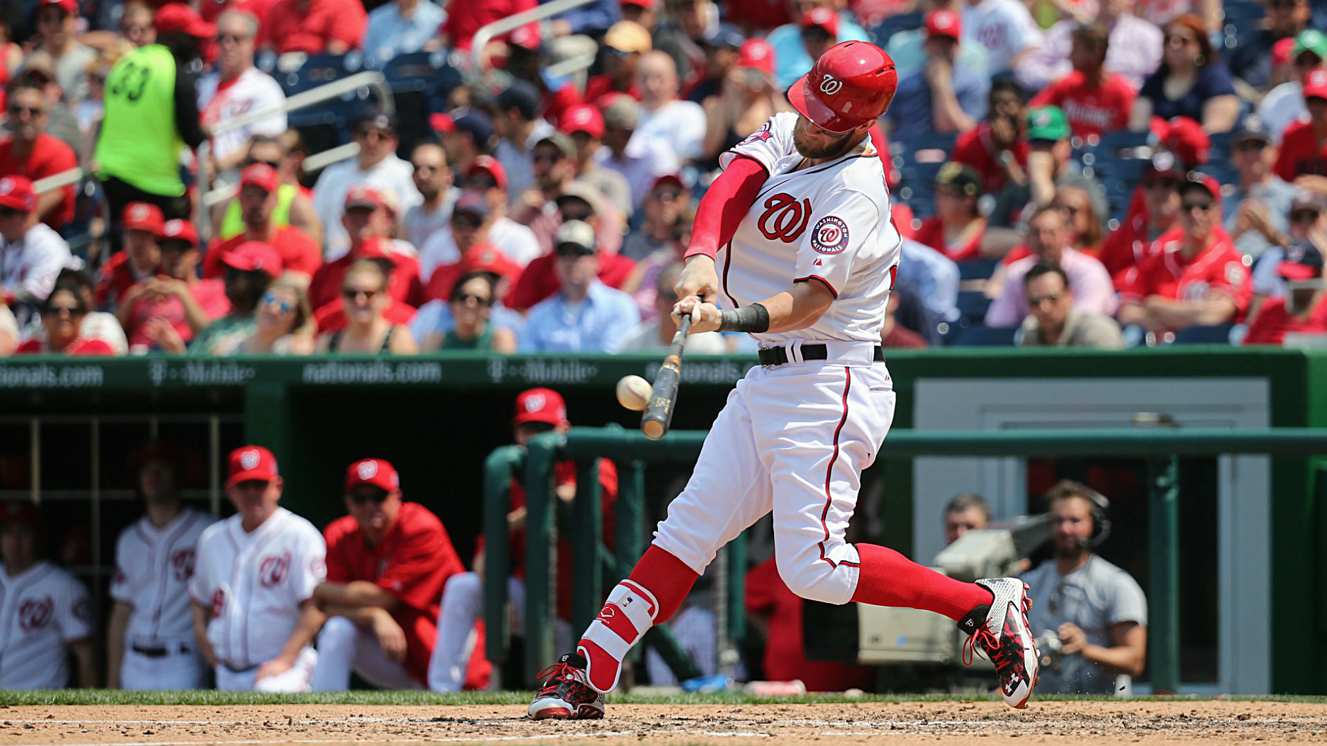 Bryce Harper Homers Three Times In At Bats