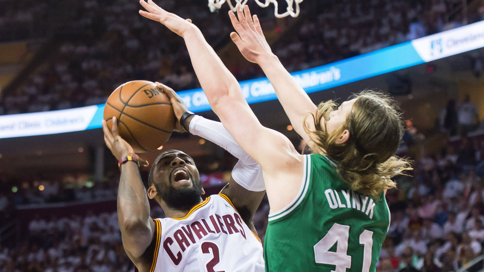 Kyrie Irving shines in playoff debut for the Cavaliers