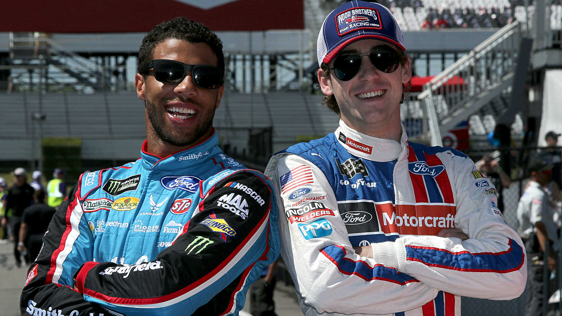 Daytona 500: Best friends Ryan Blaney, Bubba Wallace proving to be contenders