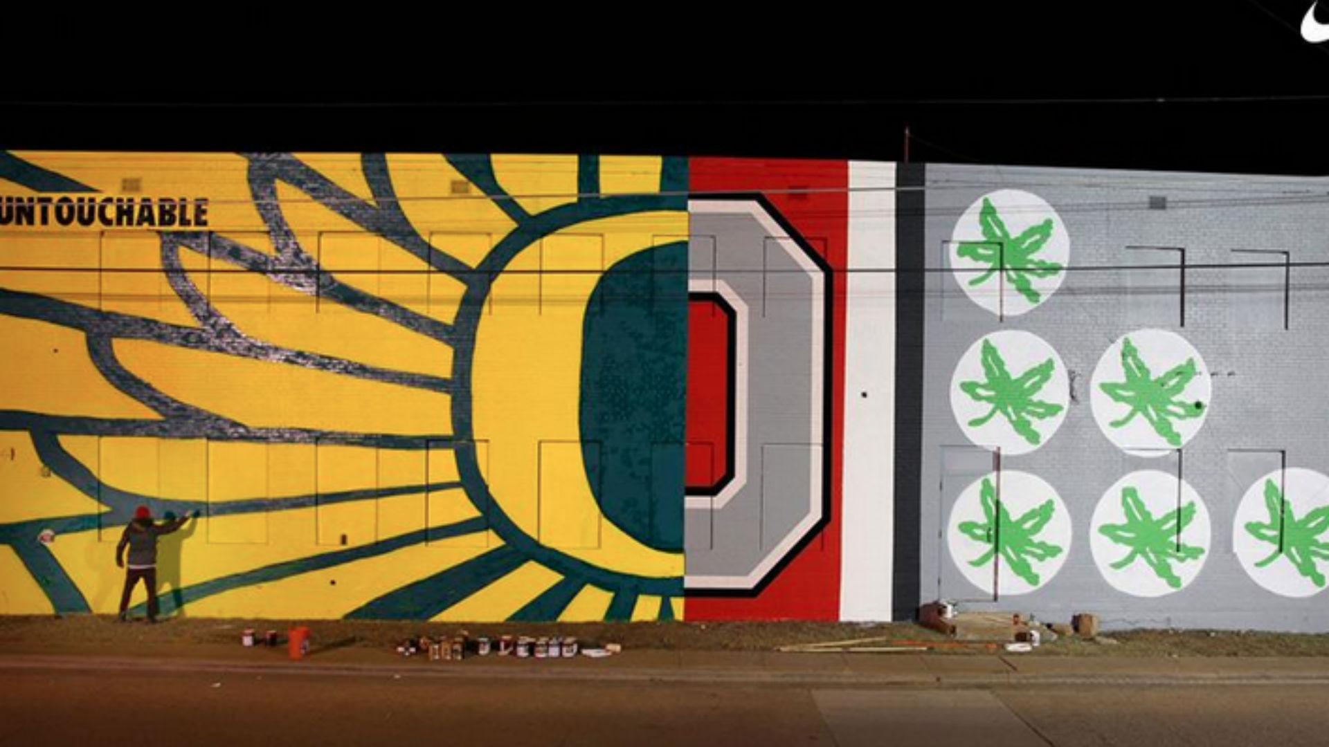 Nice Nike Paints Split Mural For Ohio State And Oregon | NCAA Football |  Sporting News Part 30