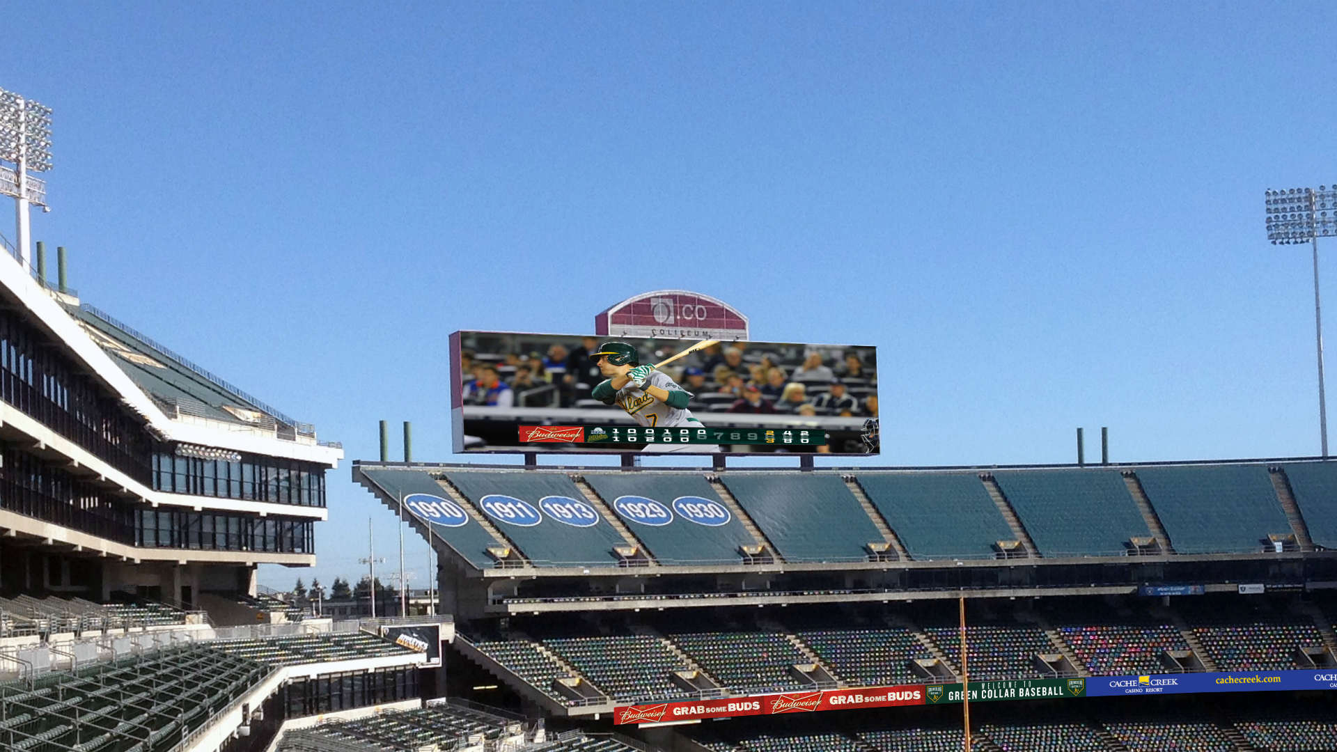 Oakland as jumbotron