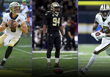 3849831a0c0 The Saints get major points for their Color Rush uniforms, which may or may  not form the best look in the NFL. The classic gold helmets paired with an  ...