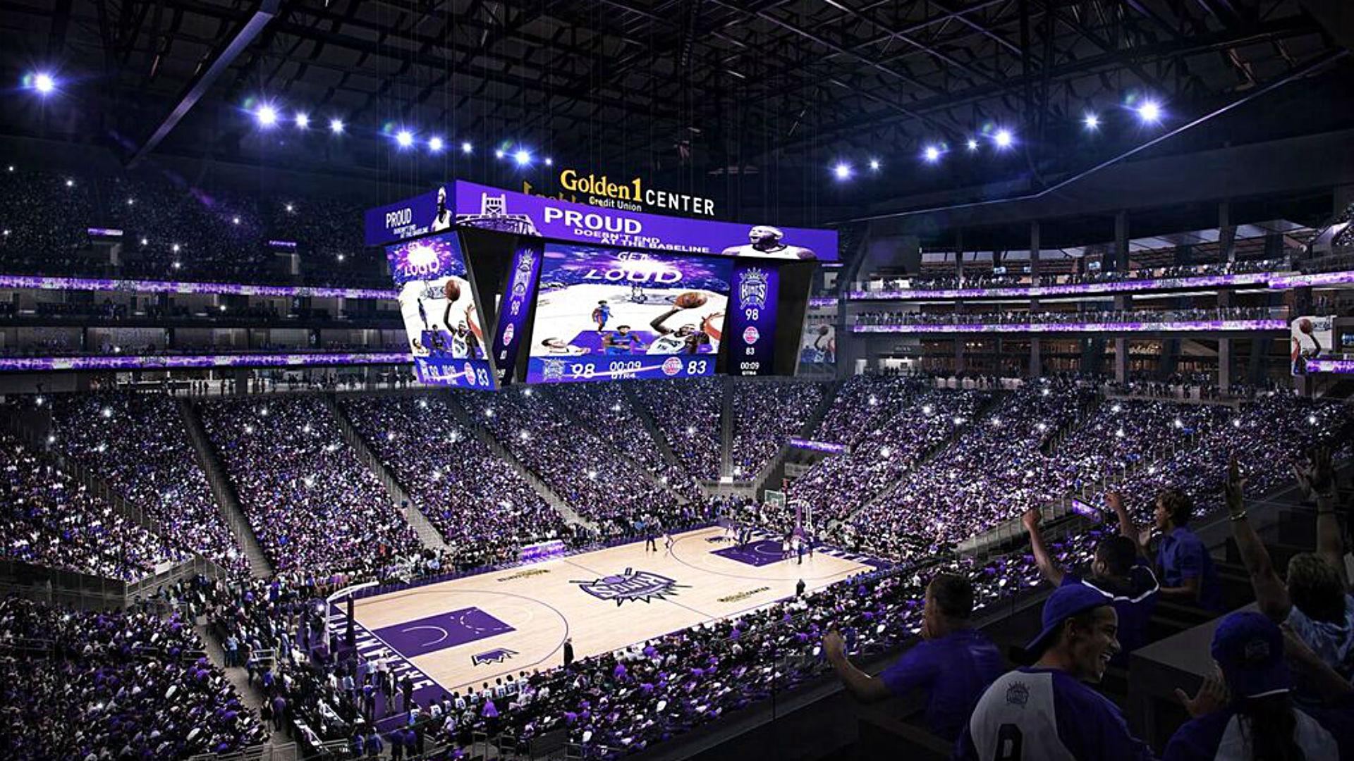 kings to feature nba 39 s first 4k board at new arena nba sporting news. Black Bedroom Furniture Sets. Home Design Ideas