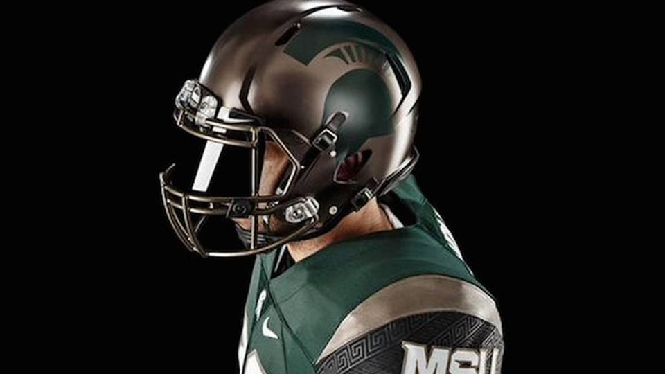 Michigan State s new alternate uniforms inspired by ancient battle formation b9f99a6df