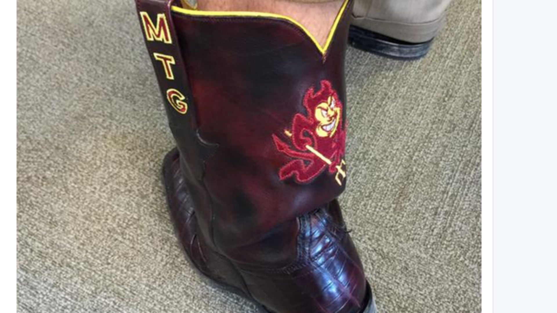 Todd Graham's boots are made for showing off