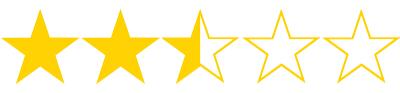 2 1/2 stars