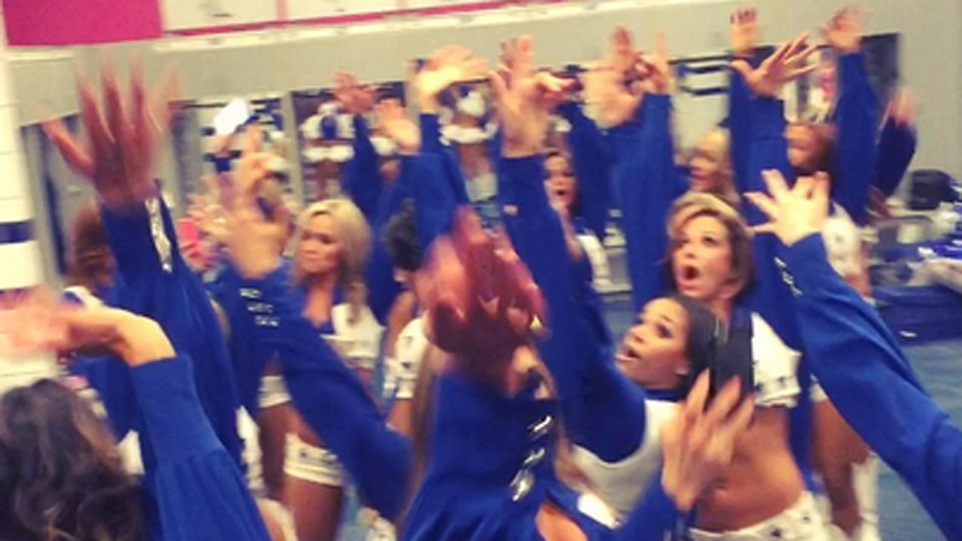Cowboy Cheerleaders Hold Impromptu Locker Room Dance Party
