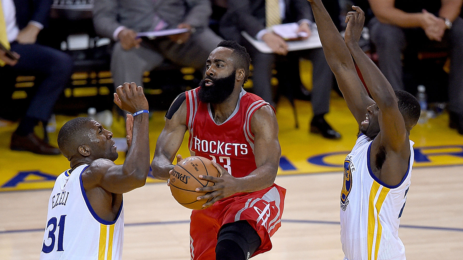 NBA pick of the day – AccuScore offers play on Rockets vs. Warriors Game 2 total