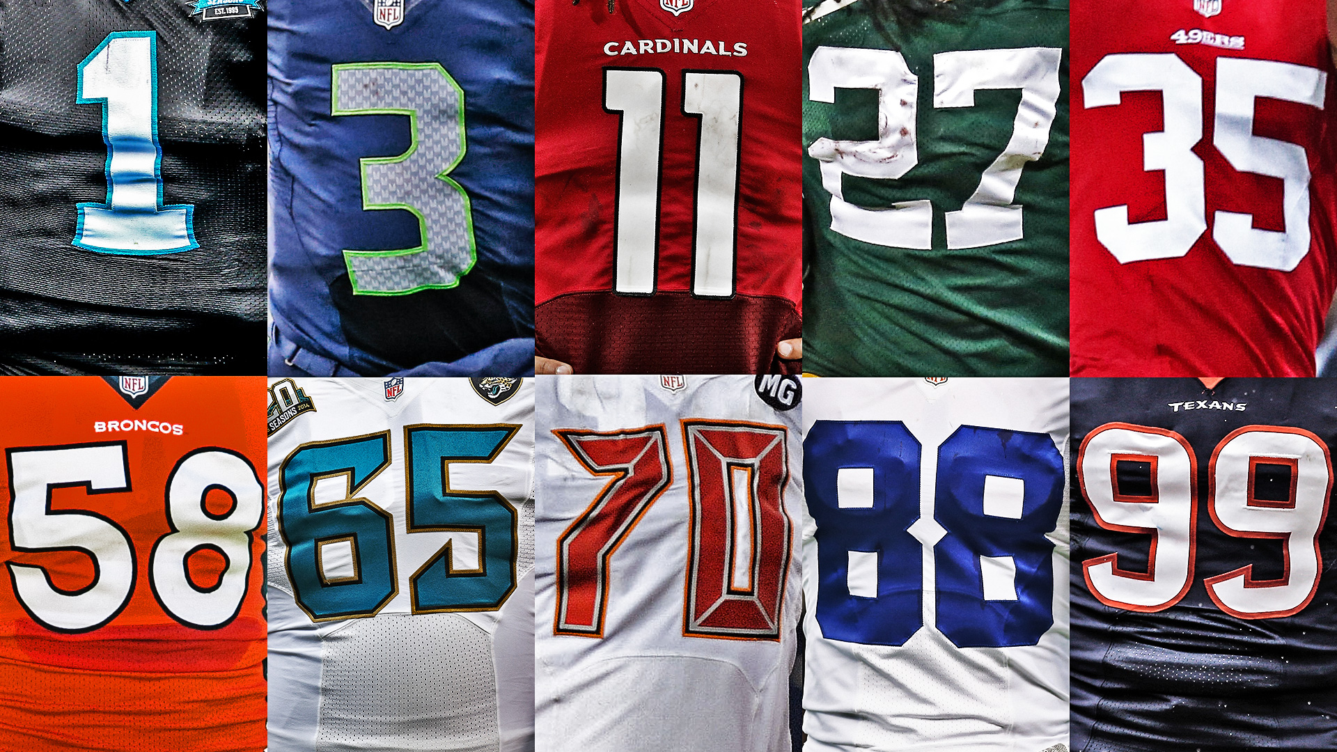 Best current NFL players at each jersey number, 1 to 99 ...
