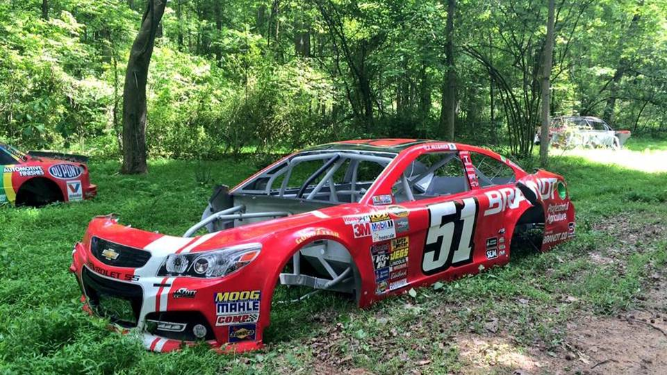 Dale Earnhardt Jr.\'s graveyard the final resting place for wrecked ...