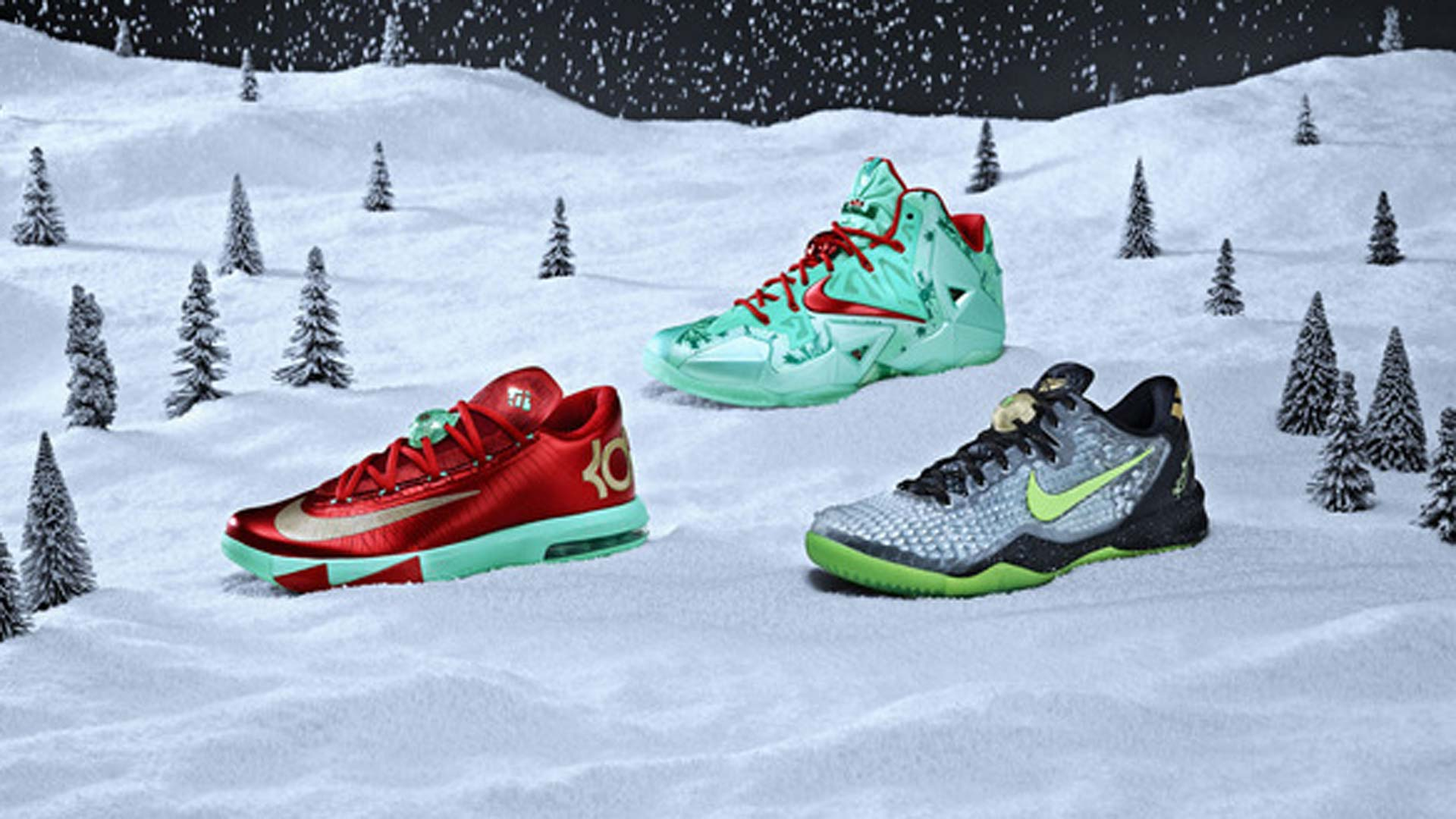 Nike unveils Christmas shoes for LeBron James, Kobe Bryant, Kevin ...