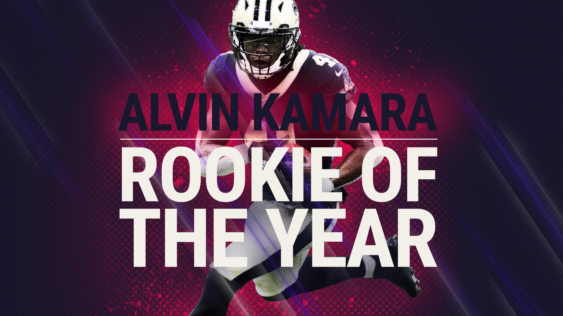 Alvin Kamara Wallpaper Saints >> NFL players vote Alvin Kamara Sporting News Rookie of the Year for ...