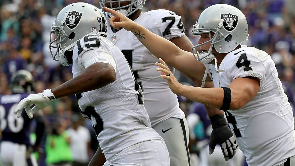 Derek Carr Michael Crabtree Building An Incredible Connection Years