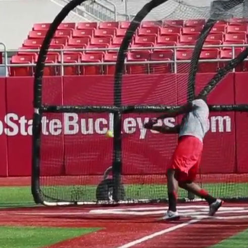 Ohio State quarterback Cardale Jones might be the worst softball player ever