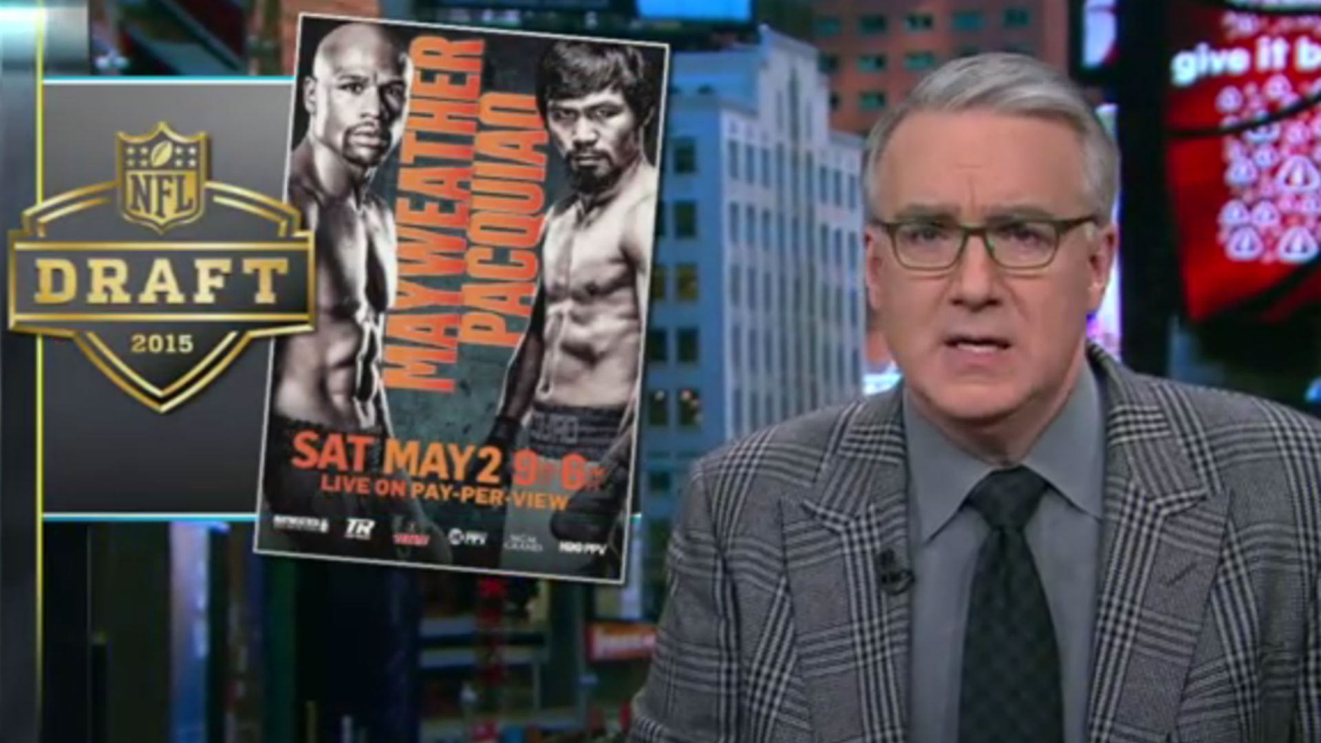 Keith Olbermann calls for boycott of Mayweather vs. Pacquiao fight, NFL Draft