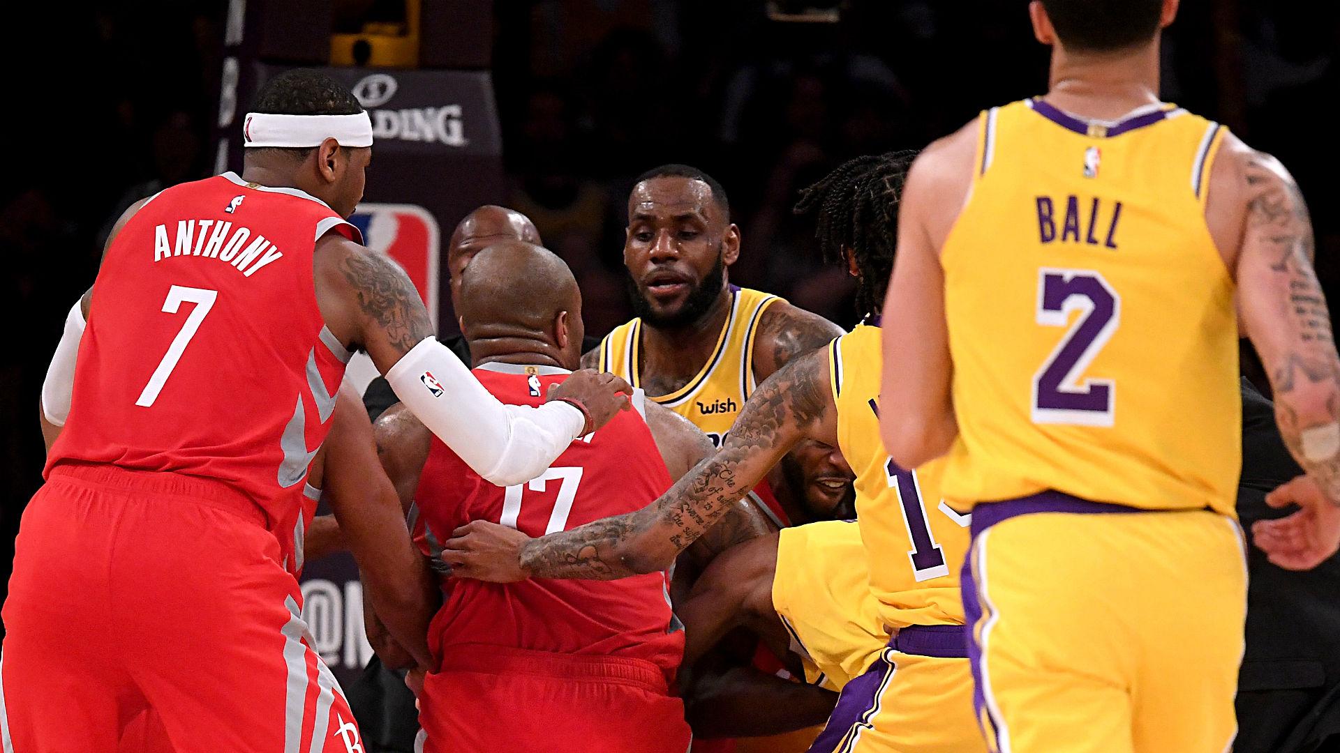 Lakers Rockets Brawl  Getty Ftr Jpg