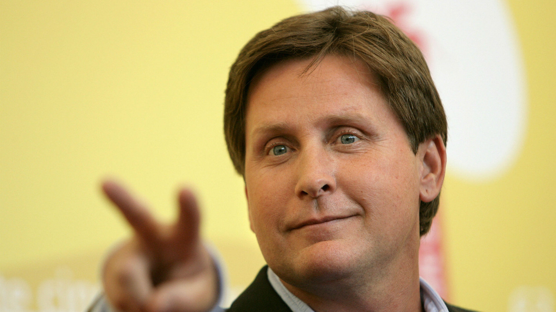 Emilio Estevez, aka Gordon Bombay, cheers on Ducks in Game 5 versus Blackhawks