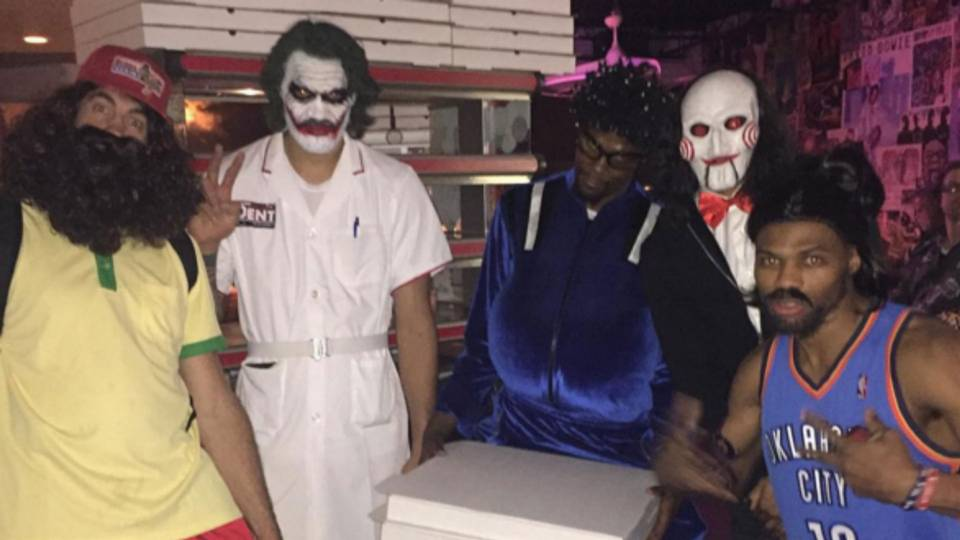 Thunder players wear the best costumes to Nick Collison's ...