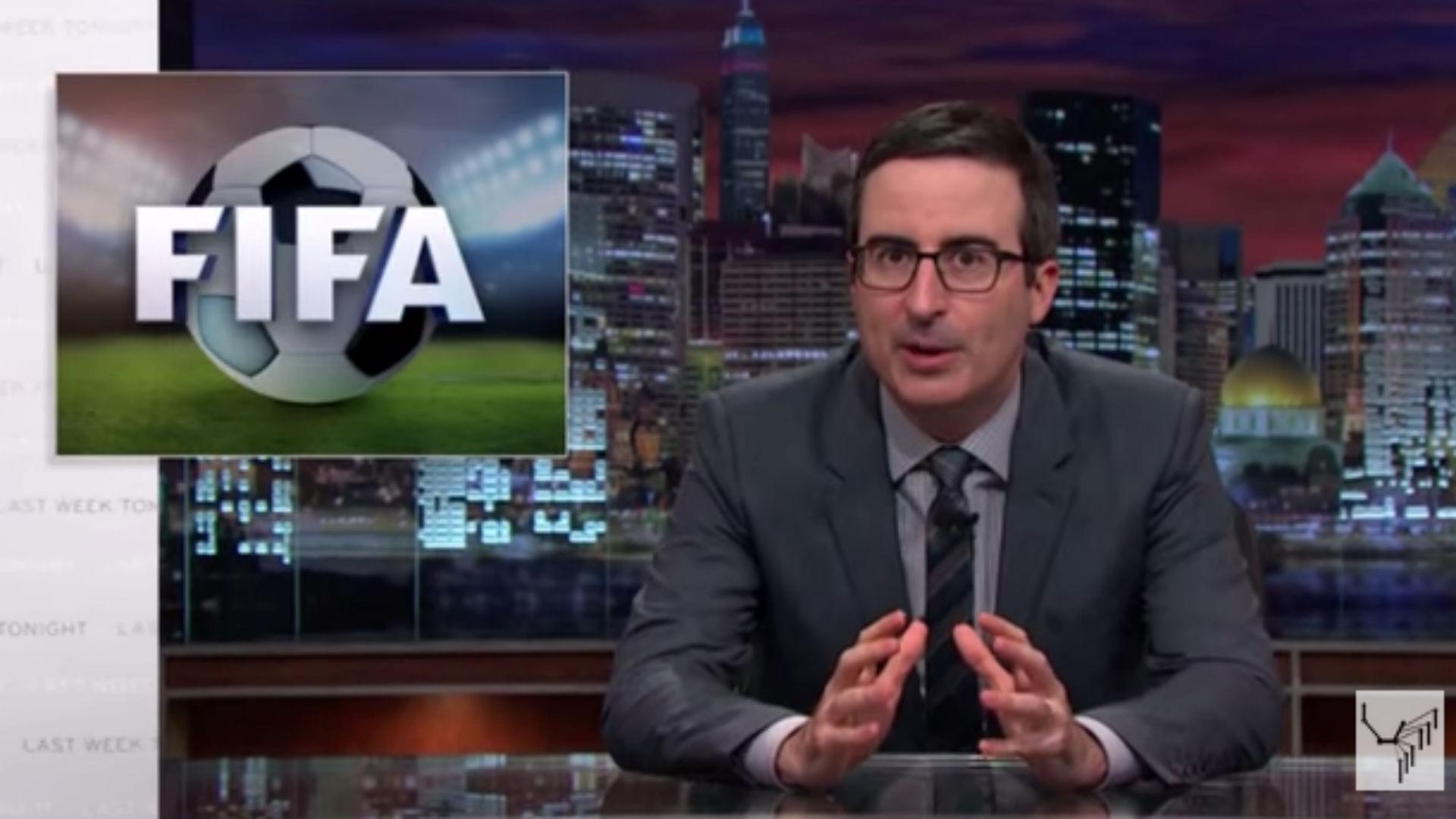 John Oliver rips Sepp Blatter for warm response to Vladimir Putin
