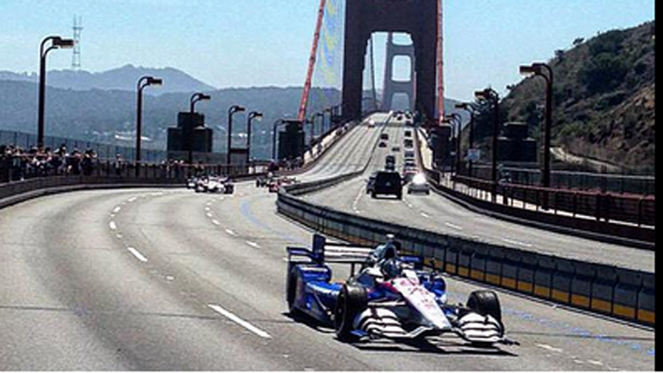 Marco Andretti honors Justin Wilson with Golden Gate Bridge crossing ...
