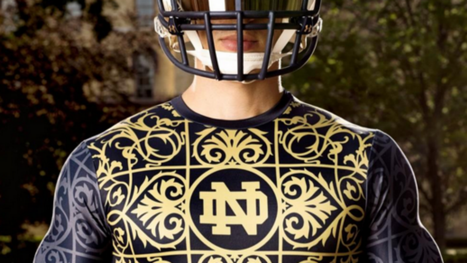 Notre Dame introduces (sort of) new uniforms for 2014  47389dfa9