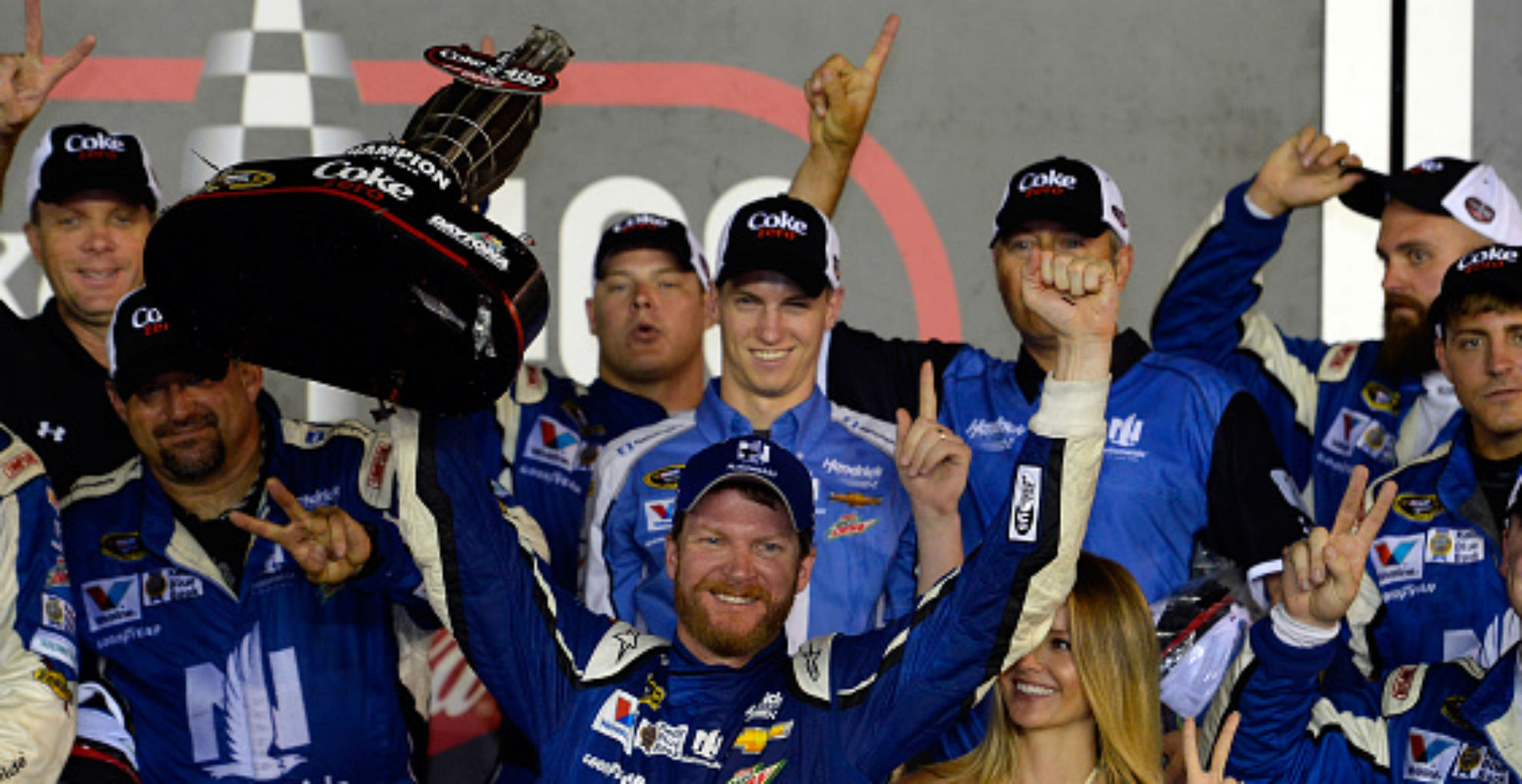Dale Earnhardt Jr. wins wild, damp Coke Zero 400 at Daytona