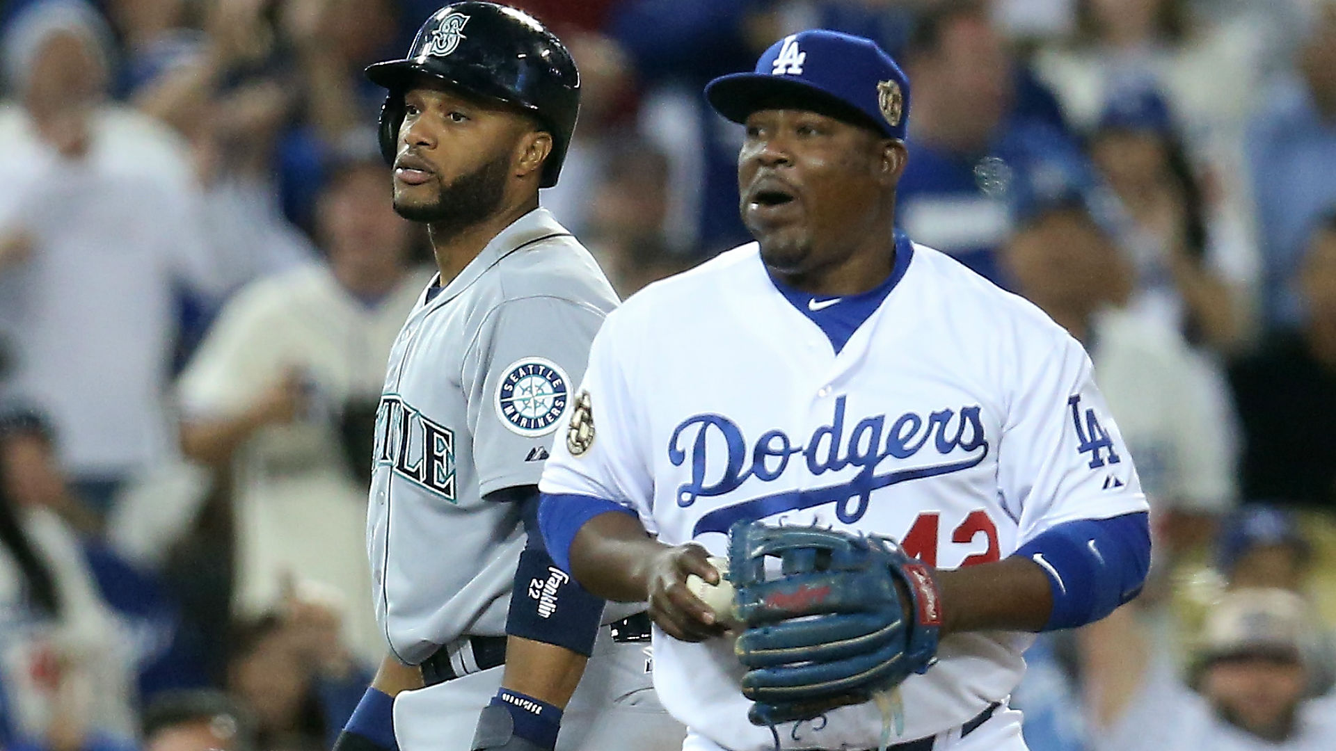 Juan Uribe happy he wasn't traded to a soccer, basketball or football team