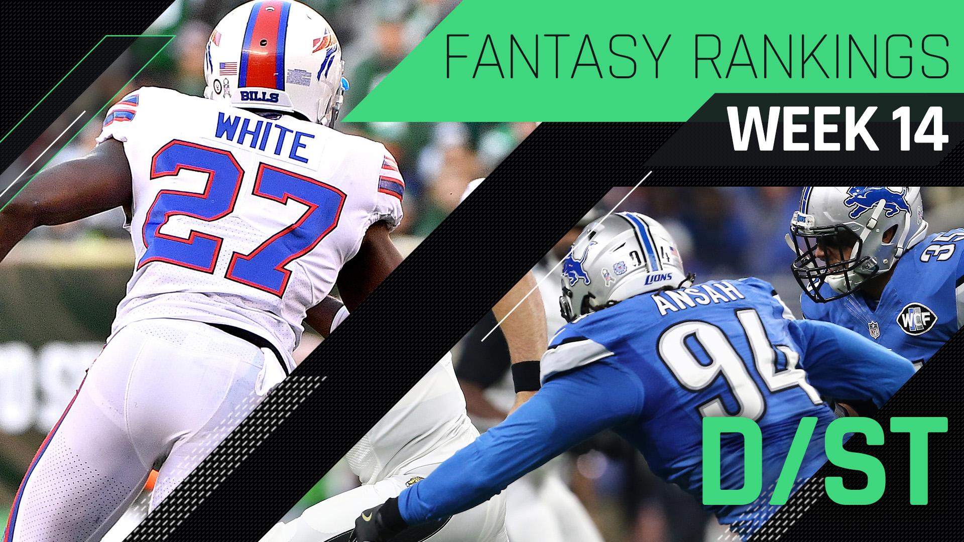 Week 14 Fantasy Rankings: Defense
