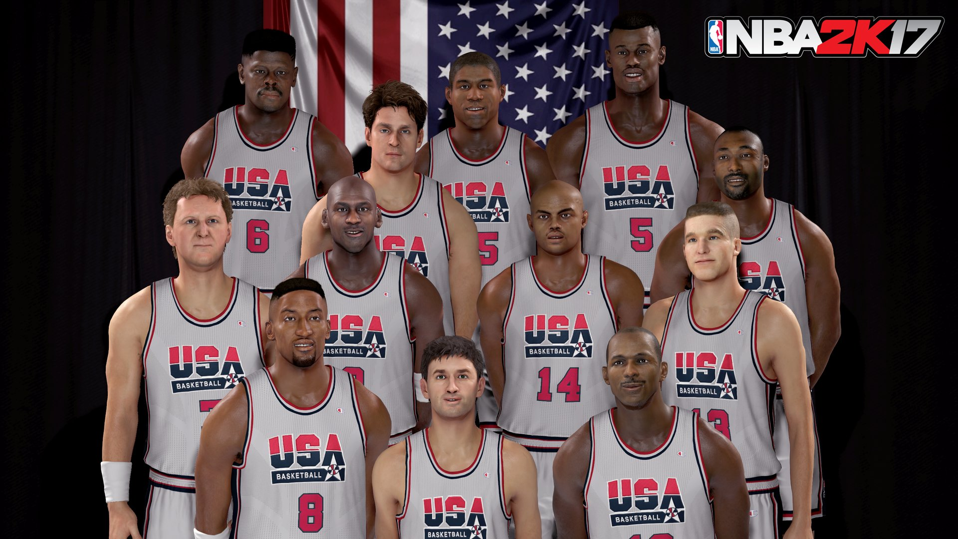 39 nba 2k17 39 recreates team photos for 1992 dream team 2016 men 39 s national team other sports. Black Bedroom Furniture Sets. Home Design Ideas