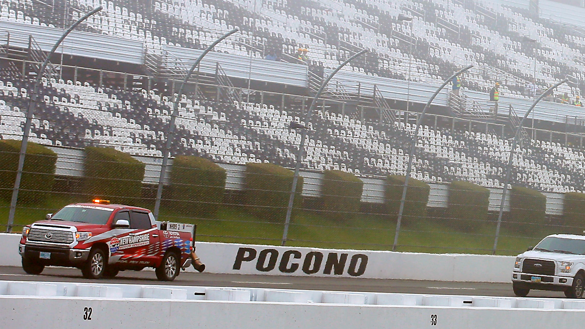 Sprint Cup Race At Pocono Start Delayed By Rain Fog