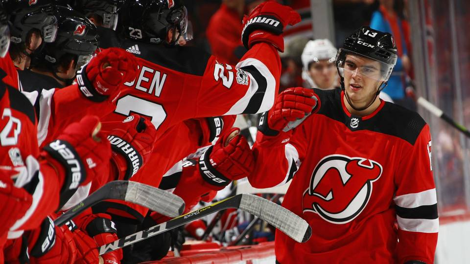 Nico Hischier s debut features slick goal for Devils · NHL 1e9b462fb57