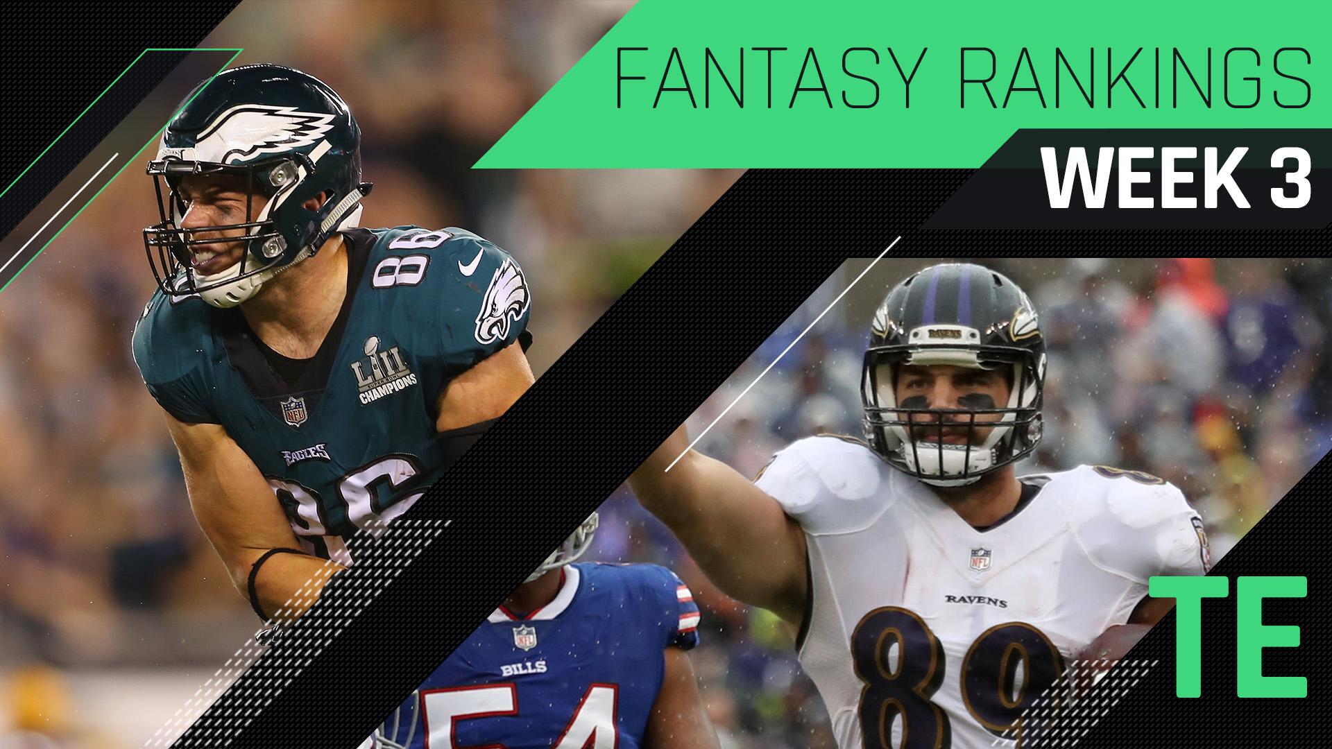 Week 3 Fantasy Rankings: Tight end