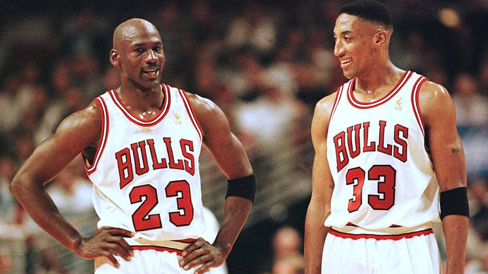 Image result for Picture of Jordan and Pippen