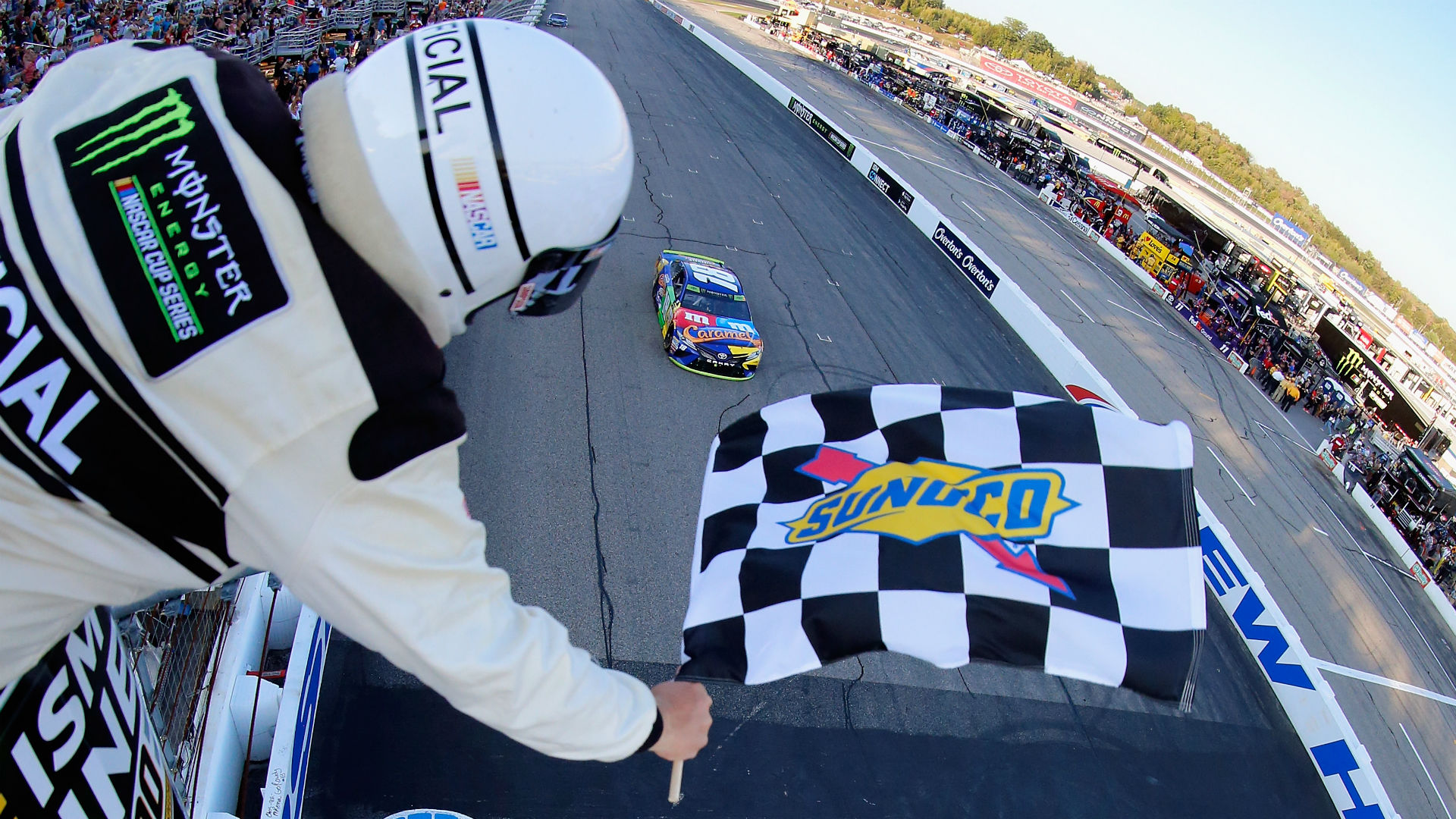 Nascar results at new hampshire kyle busch wins in ism connect 300 advances in playoffs nascar sporting news