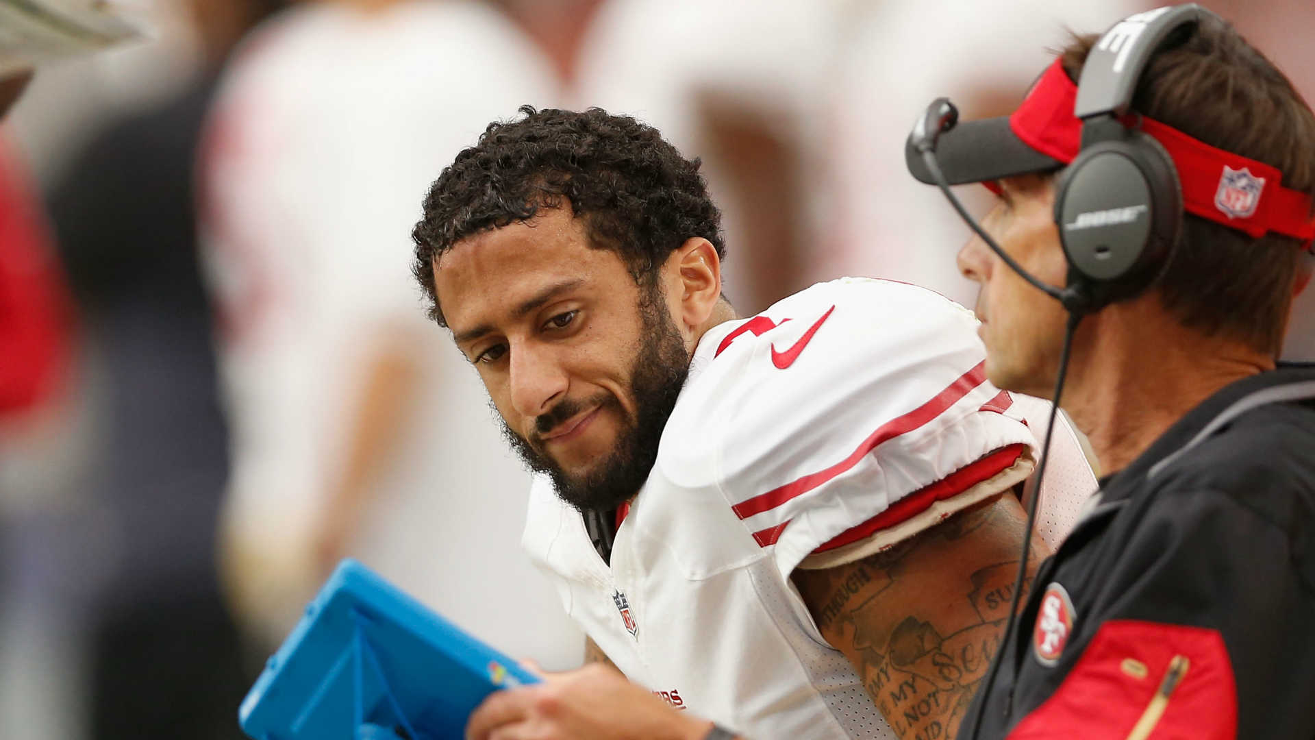 Colin Kaepernick's Pass Was So Errant He Drilled A Trainer