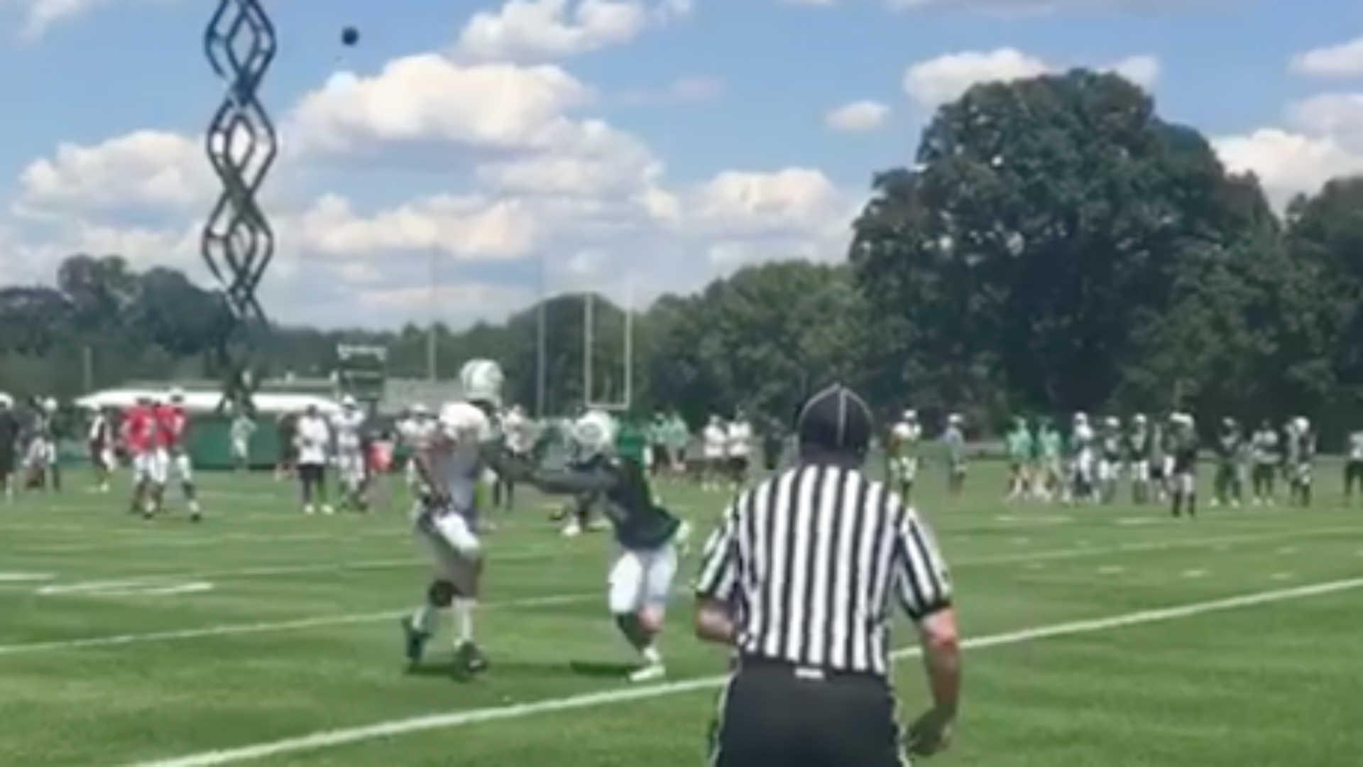 Brandon Marshall, Darrelle Revis put on show at Jets training camp