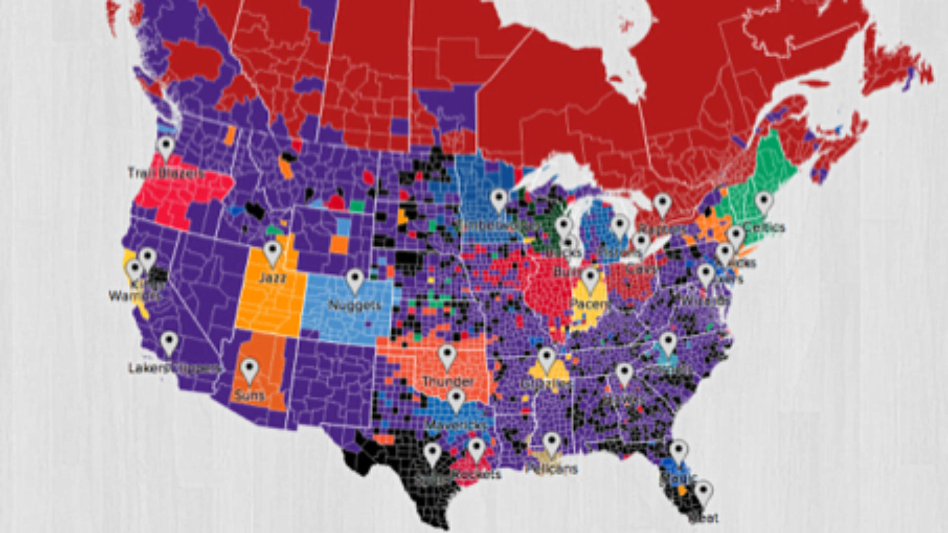 New Interactive Twitter Map Shows Nba Fans By Region Nba